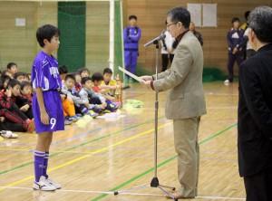 「最優秀選手賞」を受賞した、鎌田壮哉くん